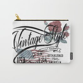 Vintage Vespa Style Carry-All Pouch