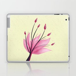 Pink Abstract Water Lily Flower Laptop & iPad Skin