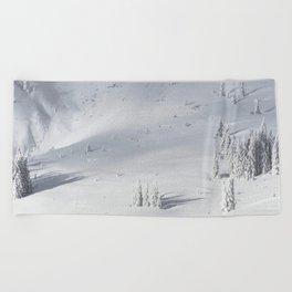 Planet Snow 1 Beach Towel