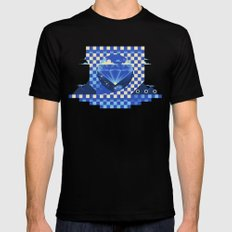 Chaos Emerald MEDIUM Black Mens Fitted Tee