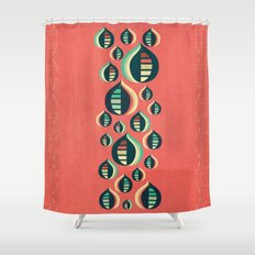 50's floral pattern III Shower Curtain