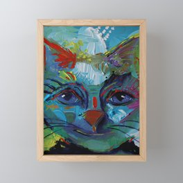 Abstract Cat Francis  Framed Mini Art Print