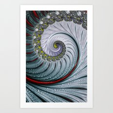 A Hint Of Red Art Print