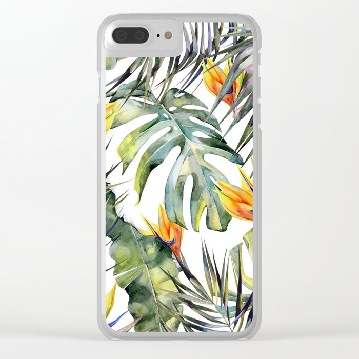 TROPICAL GARDEN Clear iPhone Case