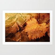 I heart Leaves Art Print