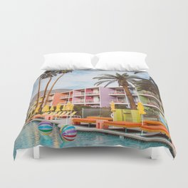 Palm Springs Pool Day VII Duvet Cover