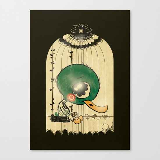 Chinese Idiom: Sitting Duck 插翅难飞 Canvas Print