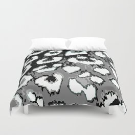 Black and White Leopard Spots Duvet Cover