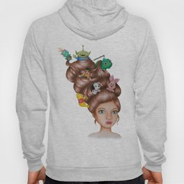 Childhood Cartoon Girl Drawing (Disn ey) Hoody