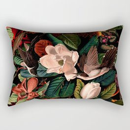 FLORAL AND BIRDS XIV Rectangular Pillow