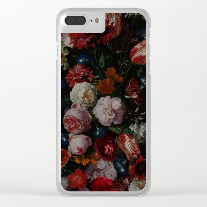 Vintage & Shabby Chic - Dutch Midnight Garden Clear iPhone Case
