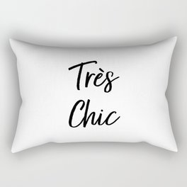 Très Chic Typography Rectangular Pillow
