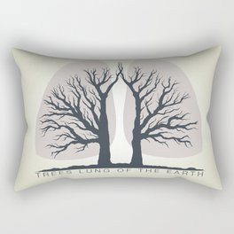 Trees - the lungs of the planet. Icon of ecology in nature Rectangular Pillow