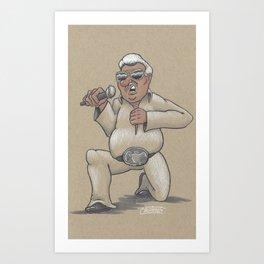 Captain Karaoke Art Print