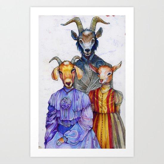 the van Goatsians Art Print
