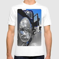 Ford Classic View MEDIUM White Mens Fitted Tee