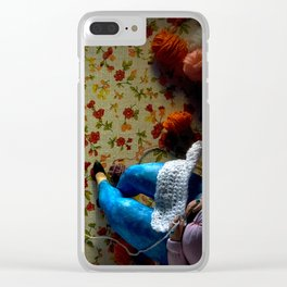 The knitter. Clear iPhone Case