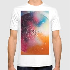Bubble Power White MEDIUM Mens Fitted Tee