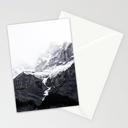 Moody snow capped Mountain Peaks - Nature Photography Stationery Cards