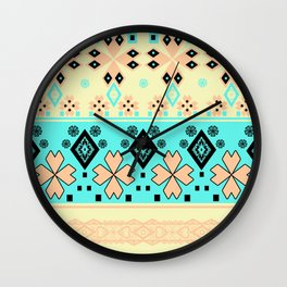 Peppermint morning Wall Clock
