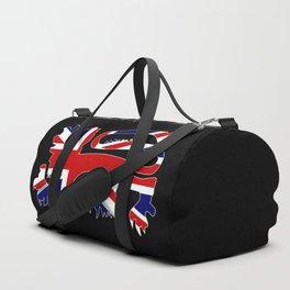 British Lion Silhouette On Union Jack Flag Duffle Bag