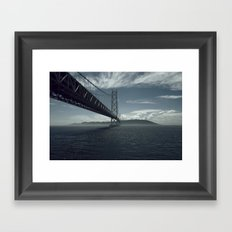Bridge theory Framed Art Print