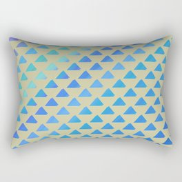 Blue green triangles Rectangular Pillow