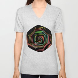Fall TGS Fractal Abstract Unisex V-Neck