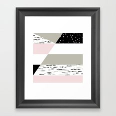 Birch Lines Pillow Framed Art Print