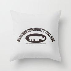 Harverd Cummunity Collage Throw Pillow