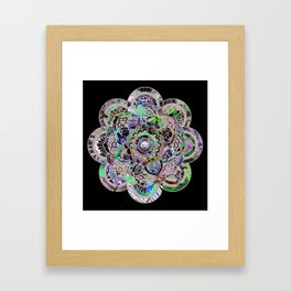 Mandala Montage Framed Art Print