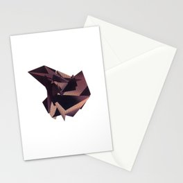 3D purple flying object Stationery Cards