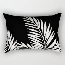 Palm Leaves White Rectangular Pillow