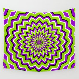 Optical Illusion moving pattern Wall Tapestry