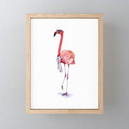 Fashionable  Pink Flamingo Framed Mini Art Print