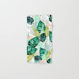 Tropical jungle white Hand & Bath Towel