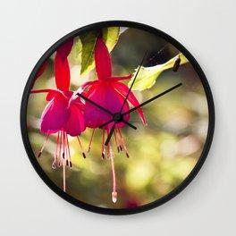 Campanas rojas Wall Clock
