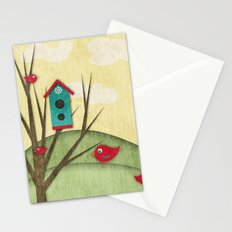 Shabby Sweet Tweet On The Hillside Stationery Cards