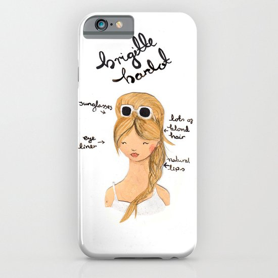Style Icon Brigitte Bardot iPhone & iPod Case