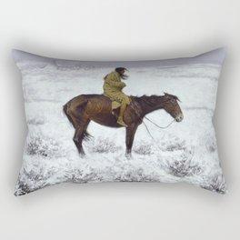 Frederic Remington - The Herd Boy, 1910 Rectangular Pillow