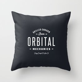 Orbital Mechanics Throw Pillow