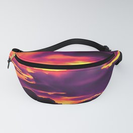cloudy burning sky reaclsh Fanny Pack
