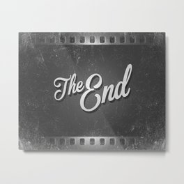 The End / poster Metal Print