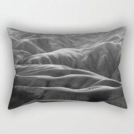 Endless Valleys (Black and White) Rectangular Pillow