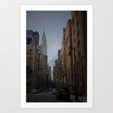 NY bluff Art Print