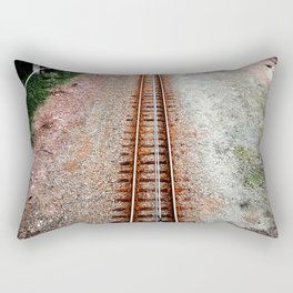 Follow The Railway Line Rectangular Pillow