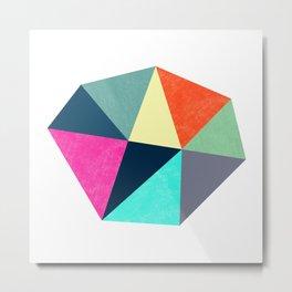 Abstract Diamond Shapes Metal Print
