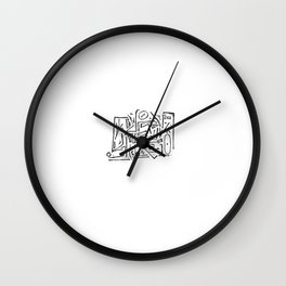 CHATTR CHAKKR - SONG PORTRAIT Wall Clock