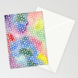 Rainbow Clouds with White Pawprints Stationery Cards