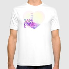 San Francisco White Mens Fitted Tee MEDIUM